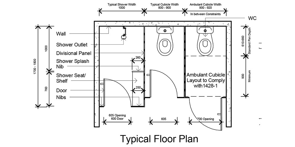 3000 Series Toilet Amp Shower Partitions Full Height
