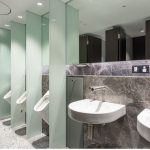 Duracube's Riparian Plaza Toilet Partitions – Pedestal Mount Installation