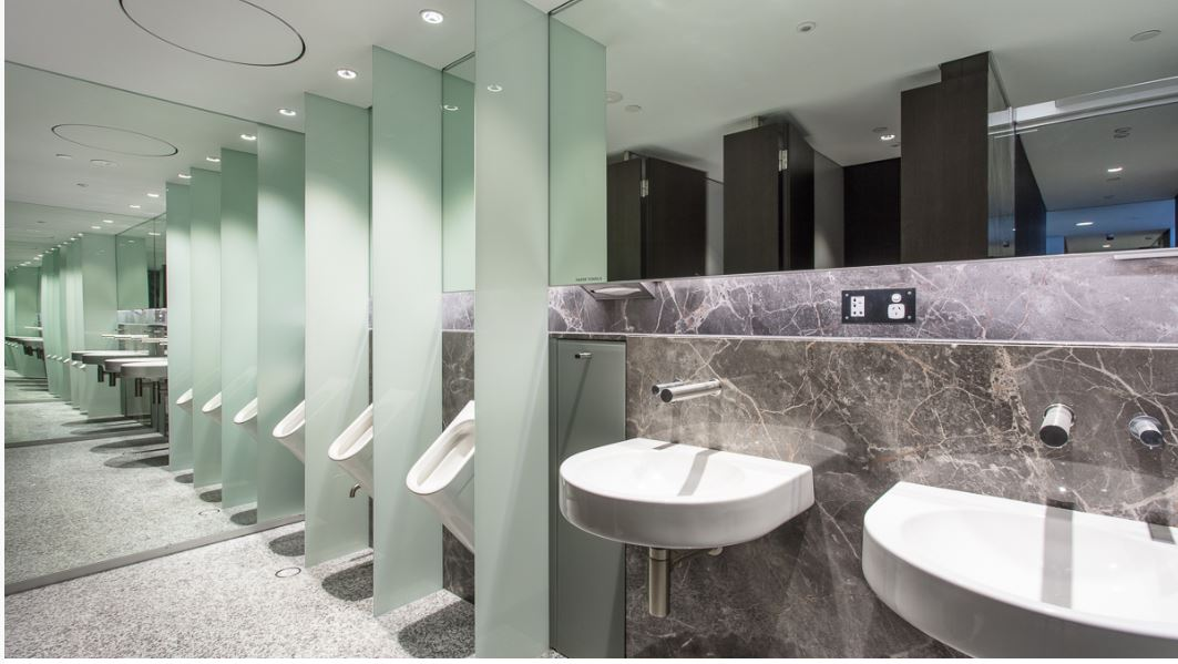 Duracube's Riparian Plaza Toilet Partitions – Pedestal Mount Installation